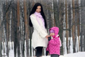 Гульнара с дочерью